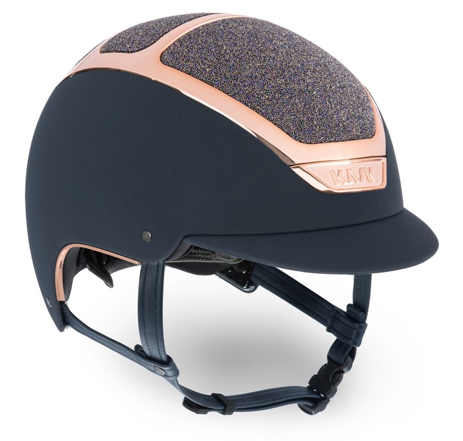 KASK Reithelm Dogma Chrome Light Carpet Amethyst inkl. Liner