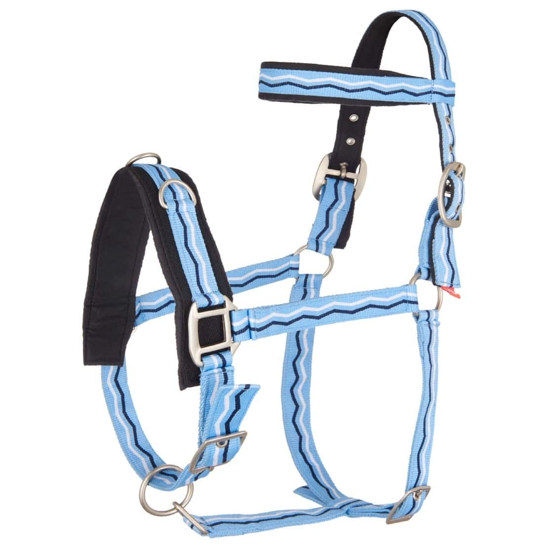 IRH-Kappzaum nylon PONY Blue Breeze