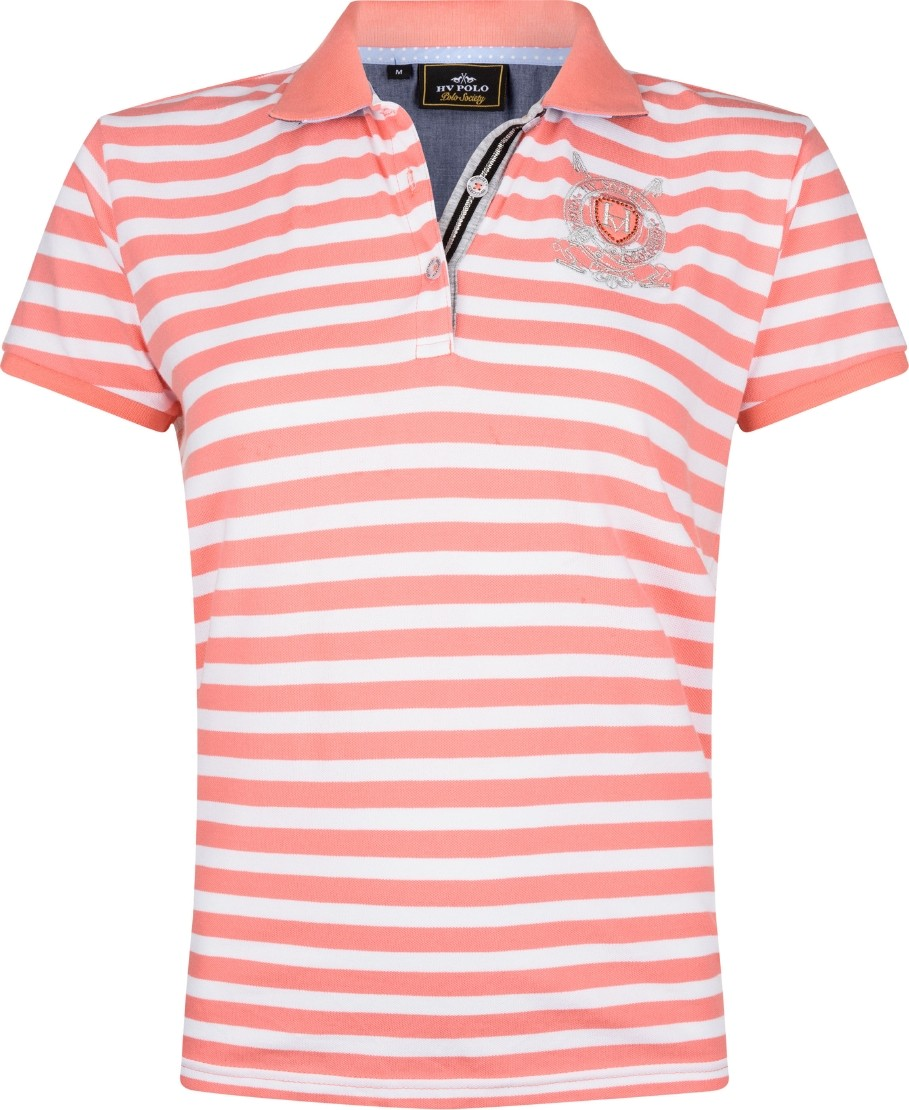 Poloshirt Ariel S Coral Pink / White