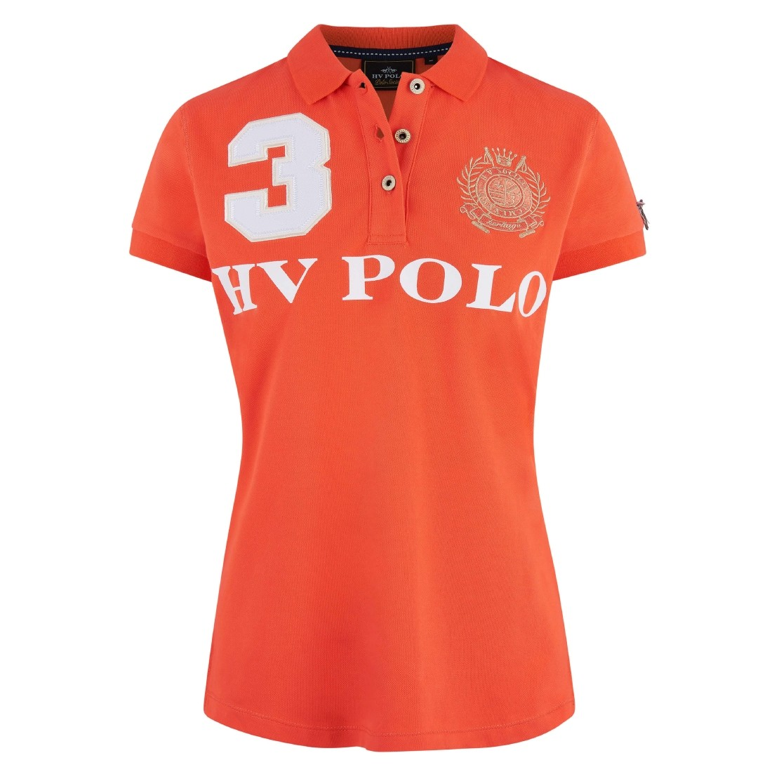 Poloshirt Favouritas EQ kurze Ärmel L Orange