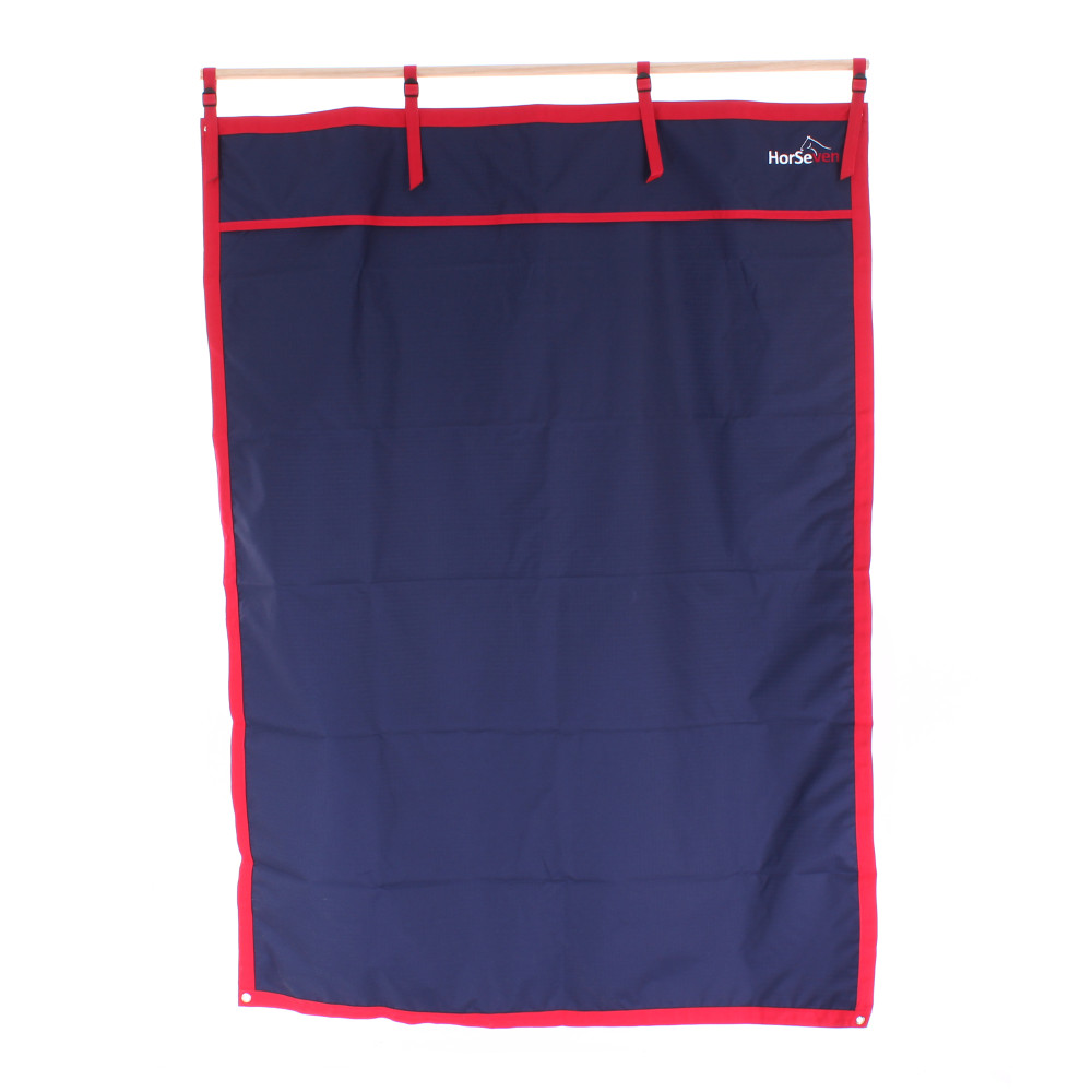 Bucas Stable Curtains mit HorSeven - navy/red - Stallvorhang