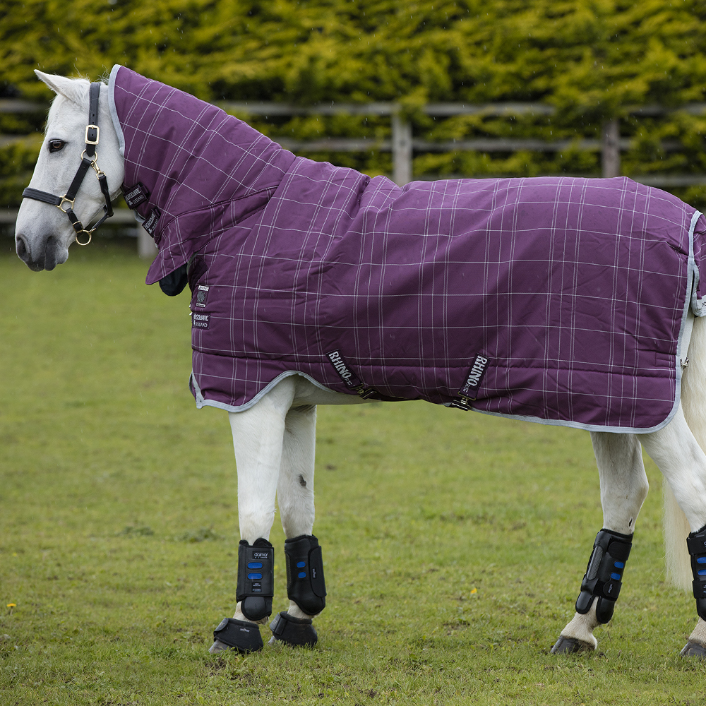 Horseware Rhino Pony All In One Turnout 400g - Berry/Grey/White