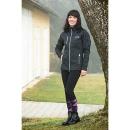 Covalliero Strick-Softshelljacke Reitjacke Erina für Damen, M, black