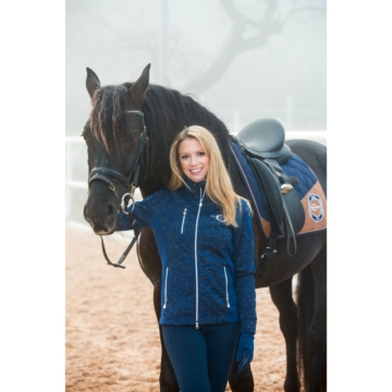 Covalliero Strick-Softshelljacke Reitjacke Erina für Damen, M, dress blue