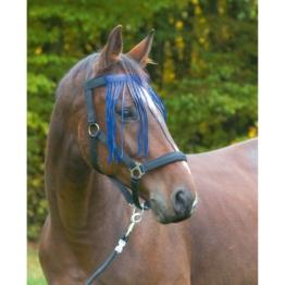 Fliegenfransenband für Pferde, Pony, blau
