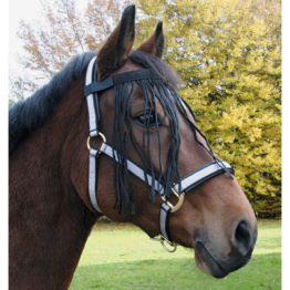 Fliegenfransenband für Pferde, Pony, schwarz