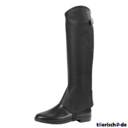 Minichaps Stiefelschaft Elasto Leder von Covalliero, M, Höhe 40,5 cm, Breite 34 cm, schwarz