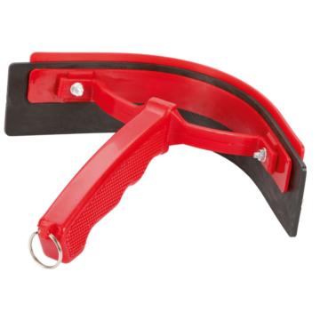 Pferde Schweißwischer aus Kunststoff, rot