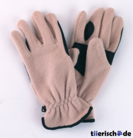 Reithandschuhe Fleece, beige, Gr. M