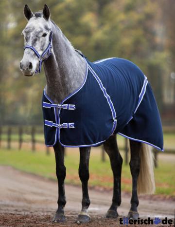 RugBe Classic Pferdedecke aus Fleece, 145 cm, schwarzblau / flieder