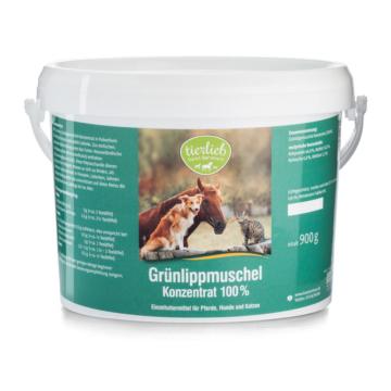 tierlieb Grünlippmuschel-Konzentrat 100 % Einzelfuttermittel für Pferde, Hunde, Katzen