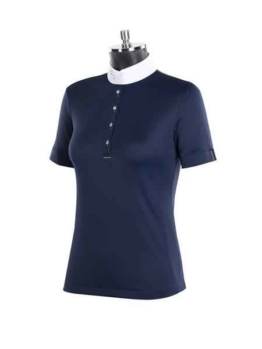Animo Buve Damen Turnier Poloshirt weiß mit Strass Applik...