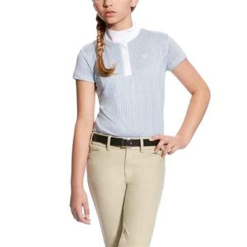Ariat Girls Aptos Show Shirt WhiteBlue Stripe