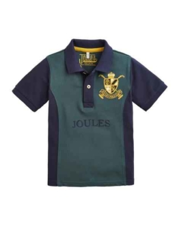 Joules Older Harry Branded Polo Shirt Dark Emerald