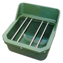 Kraftfuttertrog-Fohlentrog mit Metallstäben,  B33 x H33,5 x T28 cm