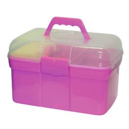 Pferde Putzbox für Kinder, befüllt, rosa