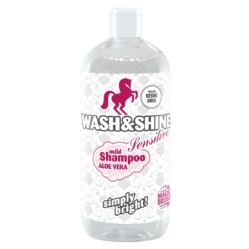 Wash&Shine Pferde Shampoo von MagicBrush, Sensitive, 500ml